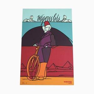 Wagon Lits Siebdruck von Valerio Adami für Michel Caza, 1989