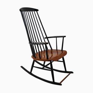 Rocking Chair Noir en Bois par Ilmari Tapiovaara pour Asko, 1950s