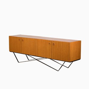 Mid-Century Steel and Teak Sideboard, 1960s