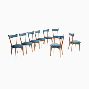 Italian Maple Dining Chairs by Ico & Luisa Parisi, 1950s, Set of 8