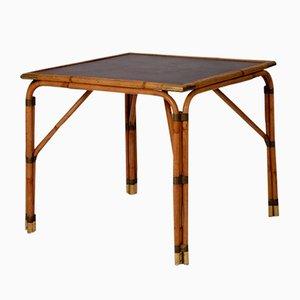 Vintage Spieltisch aus Messing & Rattan, 1970er