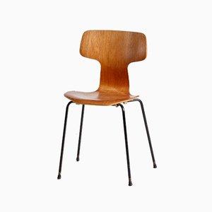 Silla Hammer modelo 3103 de Arne Jacobsen para Fritz Hansen, años 50