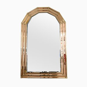 Vintage Hollywood Regency Style Brass Mirror, 1970s