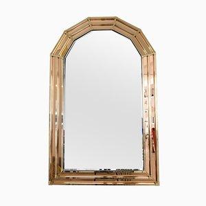 Vintage Spiegel aus Messing im Hollywood Regency Stil, 1970er
