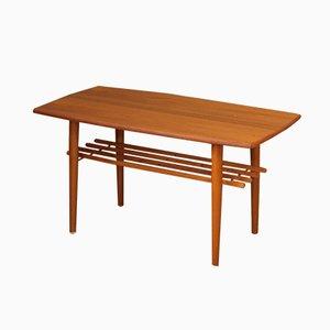 Tavolino da caffè in ottone e teak di Gustafssons, anni '50