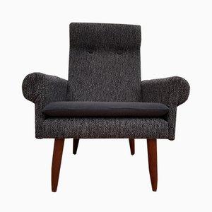 Dänischer Sessel aus Teakholz & Wolle, 1970er