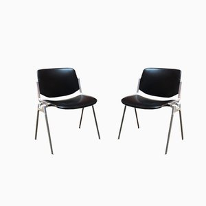 DSC 106 Leather Chairs by Giancarlo Piretti for Castelli, 1960s, Set of 2