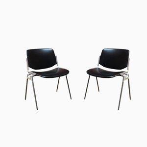 DSC 106 Stühle aus Leder von Giancarlo Piretti für Castelli, 1960er, 2er Set