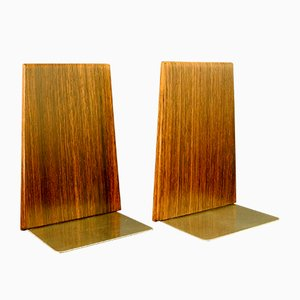 Vintage Rosewood Bookends, Set of 2