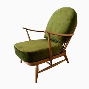 Sessel Modell 203 aus Buchenholz und Samt von Lucian Ercolani für Ercol, 1970er
