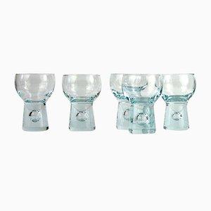 Set da tavola in cristallo di Holmegaard, Danimarca, anni '60, set di 5
