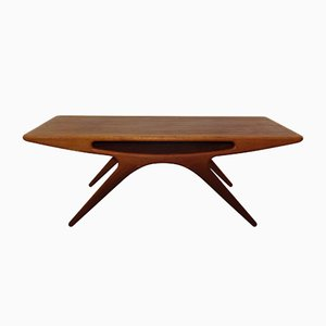 Model 206A Smile Teak Coffee Table by Johannes Andersen for CFC Silkeborg, 1957
