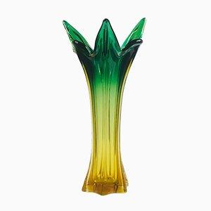Jarrón italiano Mid-Century de cristal de Murano de Murano, años 60
