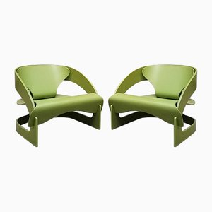 Model 4801 Armchairs by Joe Colombo for Kartell, 1964, Set of 2