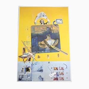Serigrafia vintage di Christian Bouille, inizio XXI secolo