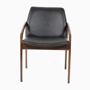 Silla de escritorio de palisandro de Kai Kristiansen para Korup Stolefabrik, años 60