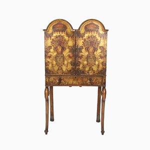 Mueble bar italiano de madera dorada, años 20