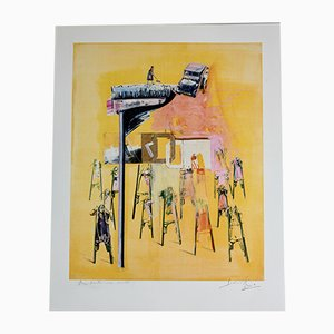 Vintage Screen Print by Christian Bouille, 2000s
