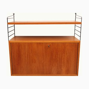 Teak Shelving Unit by Kajsa & Nisse Strinning for String, 1960s