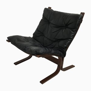 Beech and Leather Lounge Chair by Ingmar Relling, 1960s