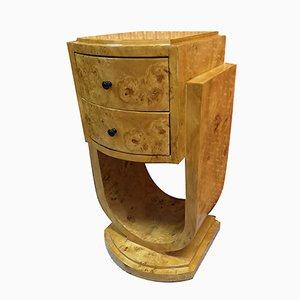 Comodino Art Deco in legno compresso, Italia, anni '40