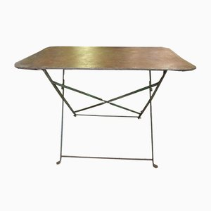 Industrial Folding Garden Table, 1920s