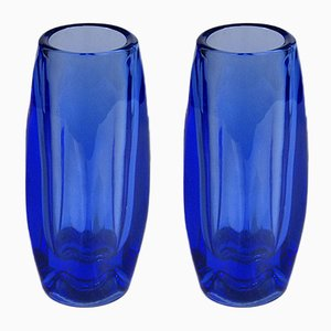 Crystal Vases by Rudolf Schrotter for Rosice, 1960s, Set of 2