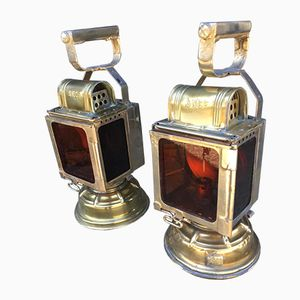 Vintage Train Station Lamps from SNCF, 1940s, Set of 2