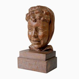 Vintage Skulptur aus Holz von Vanhumbeeck, 1930er