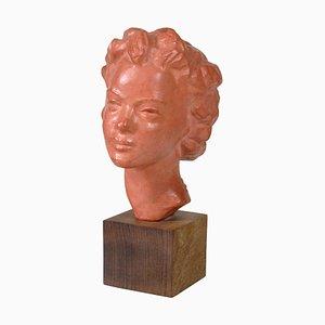 Skulptur aus Terrakotta von Paul Serste, 1960er