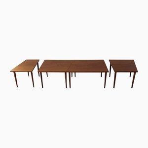 Tables Gigognes Modulables Mid-Century en Teck, 1960s