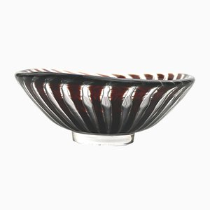 Scandinavian Colored Glass Ariel Bowl by Edvin Ohrstrom for Orrefors, 1952