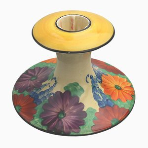 Ceramic Art Deco Candleholder by Clarice Cliff for Wilkinson, 1930s