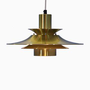 Danish Brass Pendant Lamp, 1970s