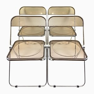 Vintage Plia Chairs by Giancolo Piretti for Anonima Castelli, Set of 4
