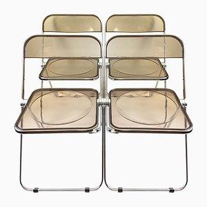 Vintage Plia Stühle von Giancolo Piretti für Anonima Castelli, 4er Set