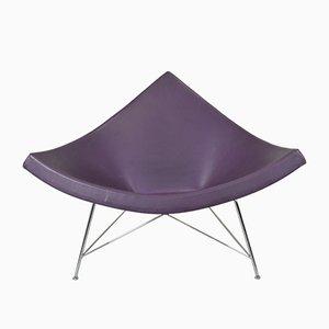 Silla Coconut de cuero violeta de George Nelson para Vitra, años 90