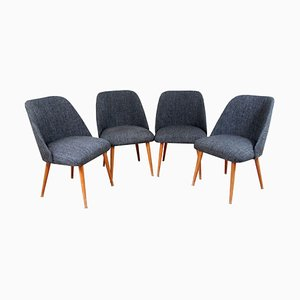 Czechoslovakian Chairs, 1960s, Set of 4