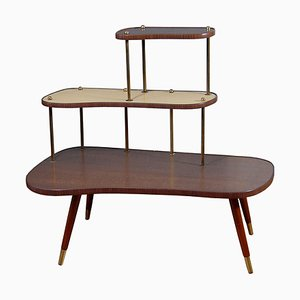 Midcentury German 3-Tiered Table
