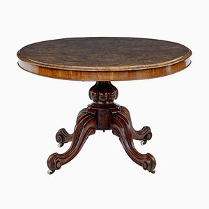 Antique Burr Walnut Oval Dining Table