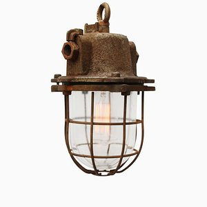 Vintage Industrial Cast Iron Pendant Light, 1950s
