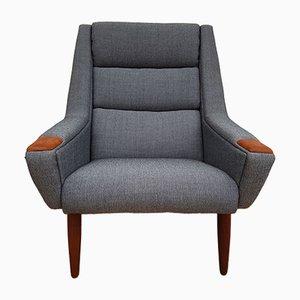 Dänischer Sessel aus Teakholz mit hoher Rückenlehne, 1970er
