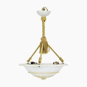 Art Deco Alabaster Pendant Light, 1930s