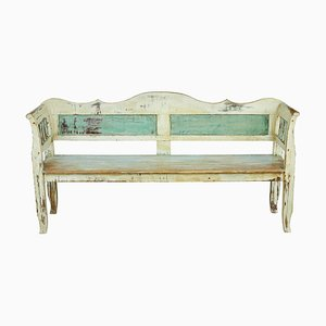 Antique Swedish Pine Bench
