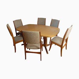Klapptisch und sechs Stühle von Skovby Møbelfabrik, 1960er
