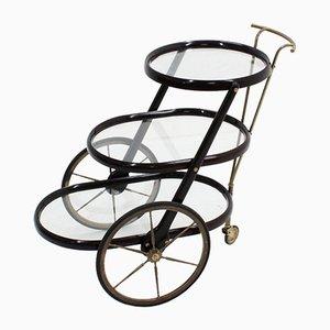 Chariot de Service Triple Étagère Mid-Century par Cesare Lacca, 1950s