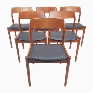 Mid-Century Danish Teak Dining Chairs, 1950s, Set of 6