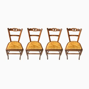 19th Century Walnut Chairs, Set of 4