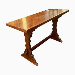 Großer Tisch aus Walnussholz, 1960er