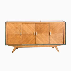 Mid-Century French Oak Sideboard with Sliding Doors, 1960s
